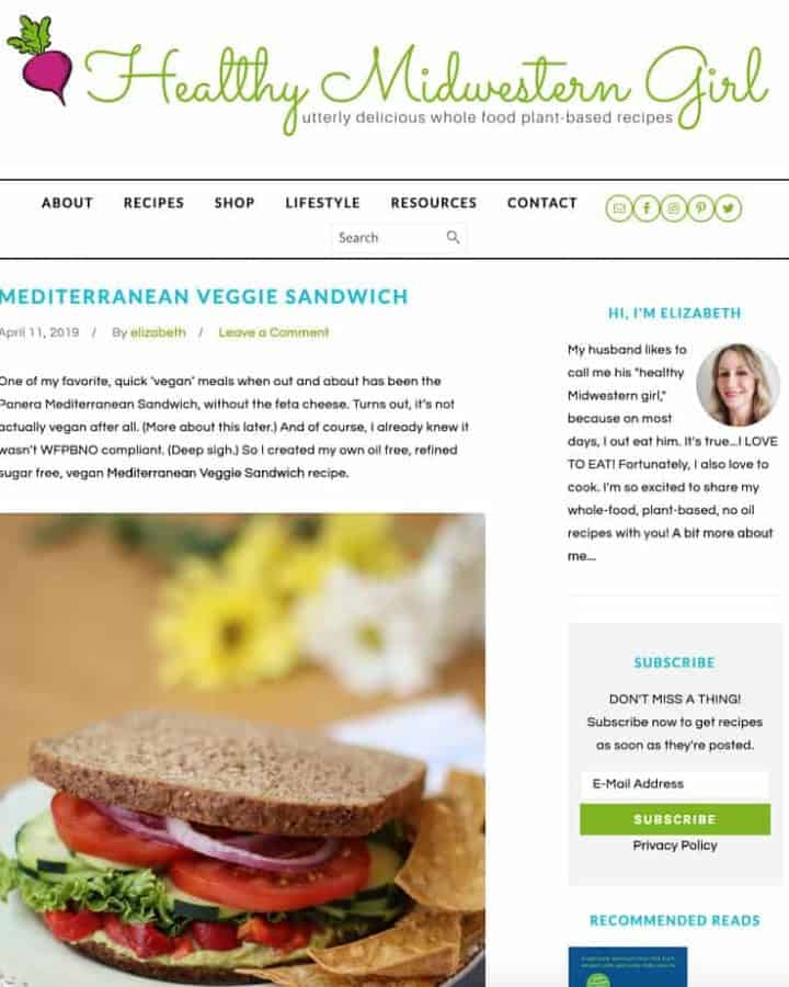 homepage screenshot of healthymidwesterngirl.com