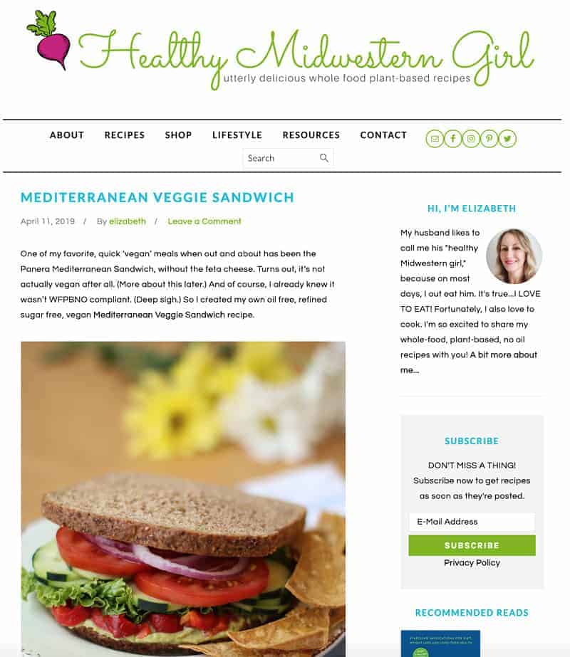 homepage screenshot of healthymidwesterngirl.com